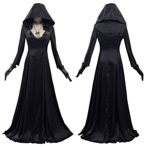 Resident Cosplay Costume Vampire Lady Dress Outfits Halloween Suit