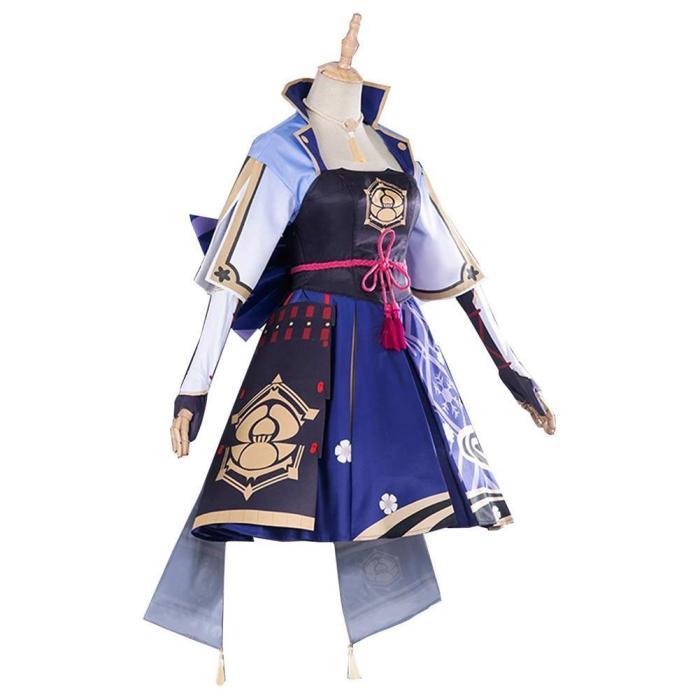 Game Genshin Impact Kamisato Ayaka Dress Outfits Halloween Carnival Suit Cosplay Costume
