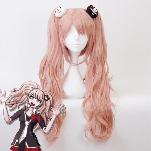 Danganronpa: Trigger Happy Havoc Junko Enoshima Orange Pink Cosplay Wig- Including Headwear
