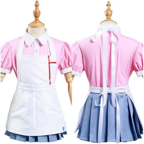 Danganronpa 2:Goodbye Despair Mikan Tsumiki Kids Children Shirt Skirt Outfits Halloween Carnival Suit Cosplay Costume
