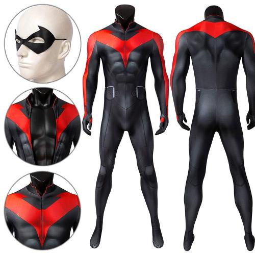 Nightwing Teen Titans The Judas Contract Jumpsuit Cosplay Costume -
