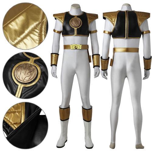 Mighty Morphin Power Rangers White Ranger Cosplay Costume