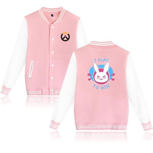 Overwatches Baseball Uniform Ow Dv. A Long Sleeve Jacket High Quality Men Women Casual Coat Hoodie Dva Cosplay Halloween Cos