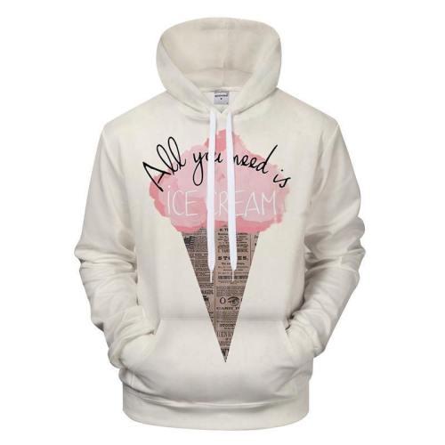 Cotton Candy Ice Cream 3D - Sweatshirt, Hoodie, Pullover