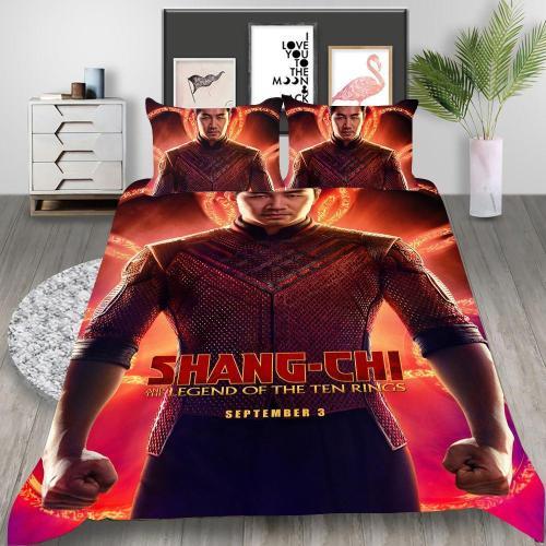 Shang-Chi Cosplay Bedding Set Duvet Cover Pillowcases Halloween Home Decor