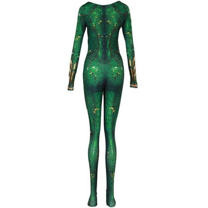 Movie Aquaman Mera Queen Cosplay Costume Zentai Bodysuit Jumpsuit Suit
