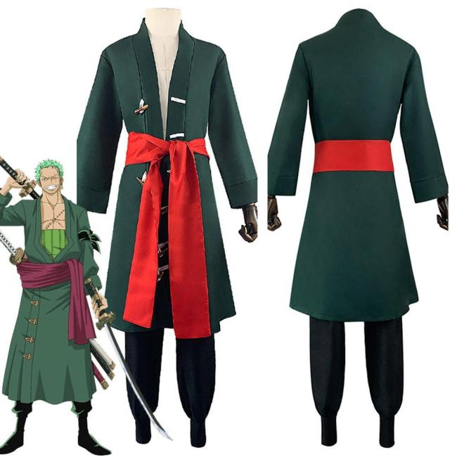 One Piece Roronoa Zoro Outfits Halloween Carnival Suit Cosplay Costume