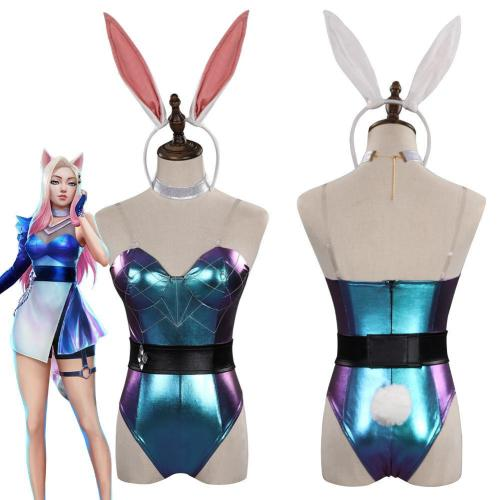 League Of Legends Lol Kda Bunny Girls Jumpsuit Outfit Halloween Cosplay Costume
