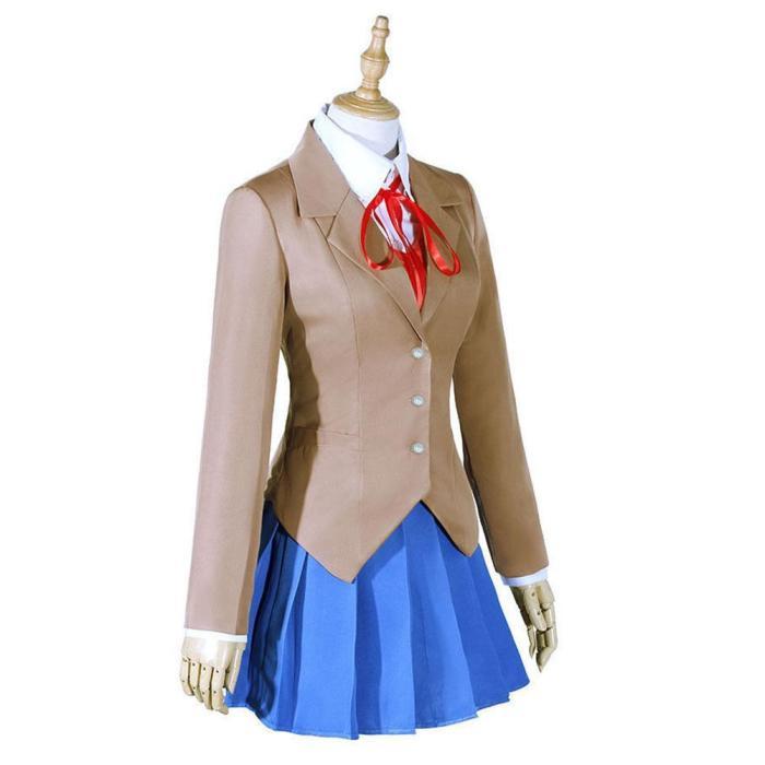 Doki Doki Literature Club Monika Outfits Halloween Carnival Suit Cosplay Costume