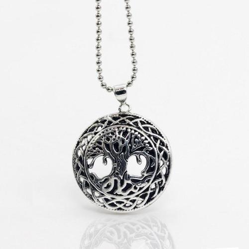 Yggdrasil World Tree Steel Necklace