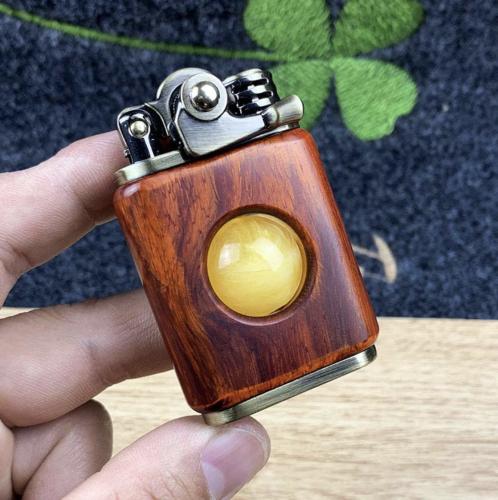 Rosewood Handmade Custom Windproof Kerosene To Bead Lighter