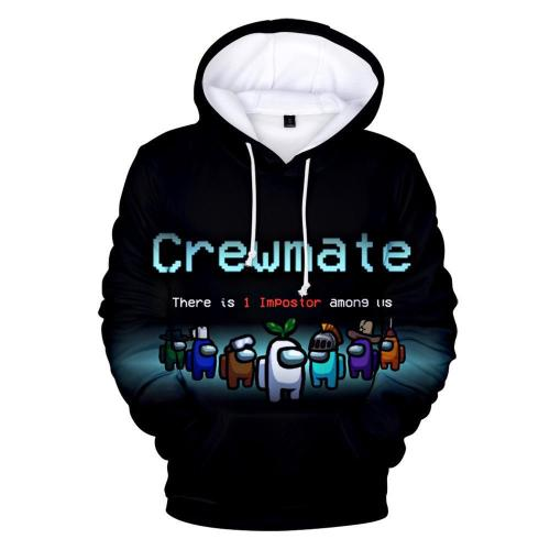 Kids Style-3 Impostor Among Us Crewmate Cartoon Game Unisex 3D Printed Hoodie Pullover Sweatshirt