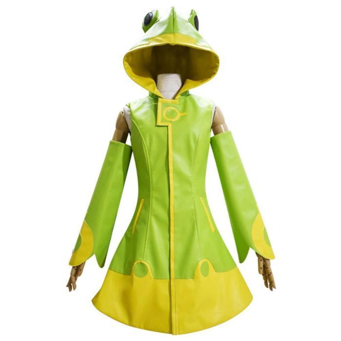 Anime Card Captor Kinomoto Sakura Green Raincoat Halloween Carnival Party Suit Cosplay Costume