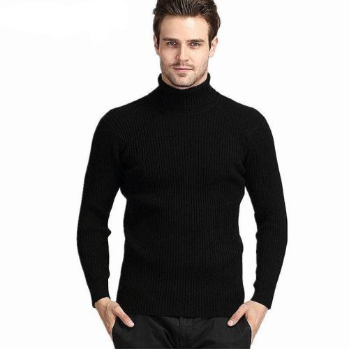 Mens Winter Thick Warm Cashmere Turtleneck Sweater