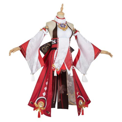 Genshin Impact Yae Miko Outfits Halloween Carnival Suit Cosplay Costume