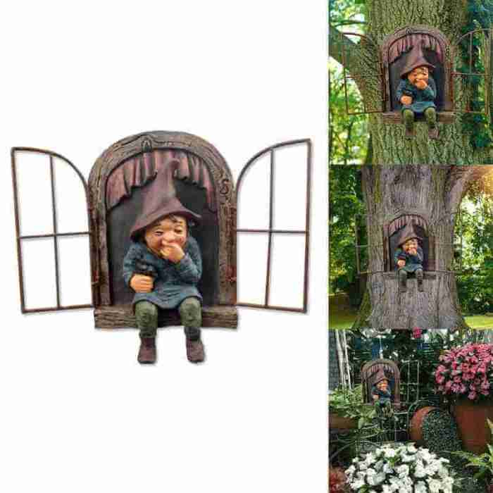 Garden Gnomes 3D Ornaments Dwarfs Resin Crafts Ornaments Decoration