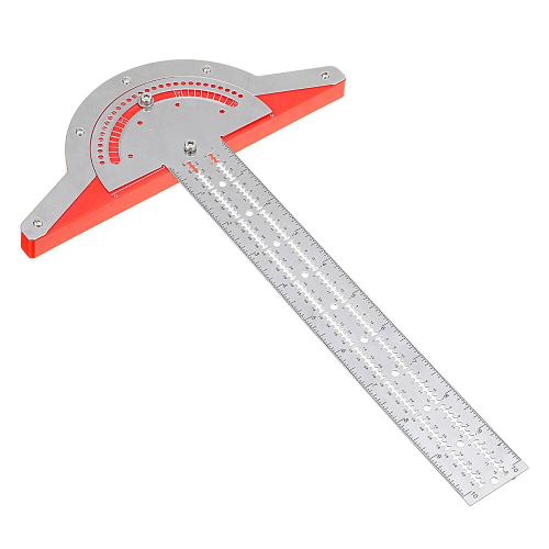 Efficient Woodworkers Stainless Steel Protractor & Edge Ruler