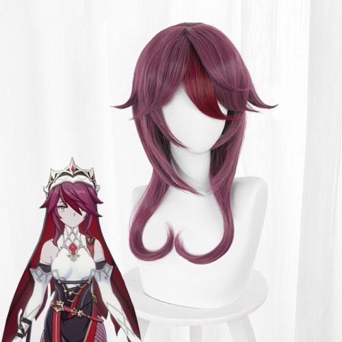 Genshin Impact Rosaria Purple Cosplay Wig