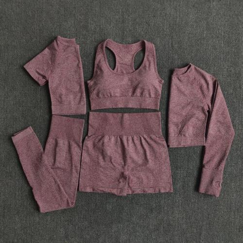 2/3/5Pcs Seamless Women Yoga Set Workout Sportswear