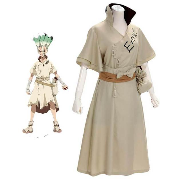 Anime Dr. Stone Cosplay Ishigami Senkuu Costume Halloween Costumes