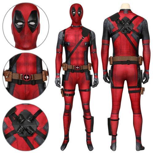 Deadpool Wade Wilson Deadpool 2 Jumpsuit Cosplay Costume -