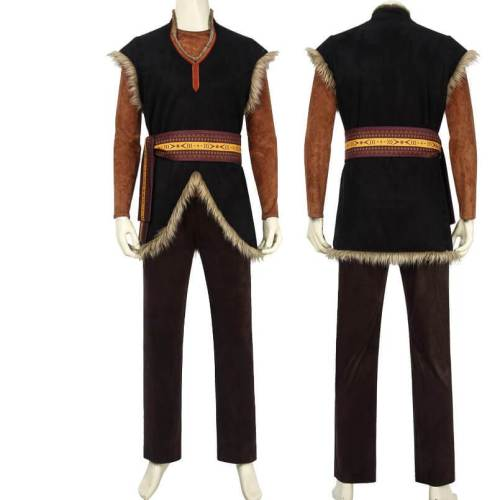 Frozen 2 Kristoff Cosplay Costume Outfit Halloween Full Props Suit