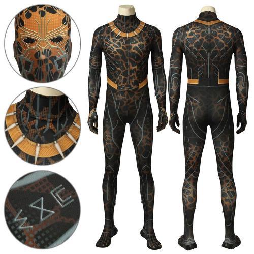 Erik Killmonger Black Panther Battle Suit Jumpsuit Cosplay Costume