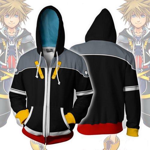 Kingdom Hearts Game  Arrival Sora Cosplay Unisex 3D Printed Hoodie Sweatshirt Jacket With Zipper