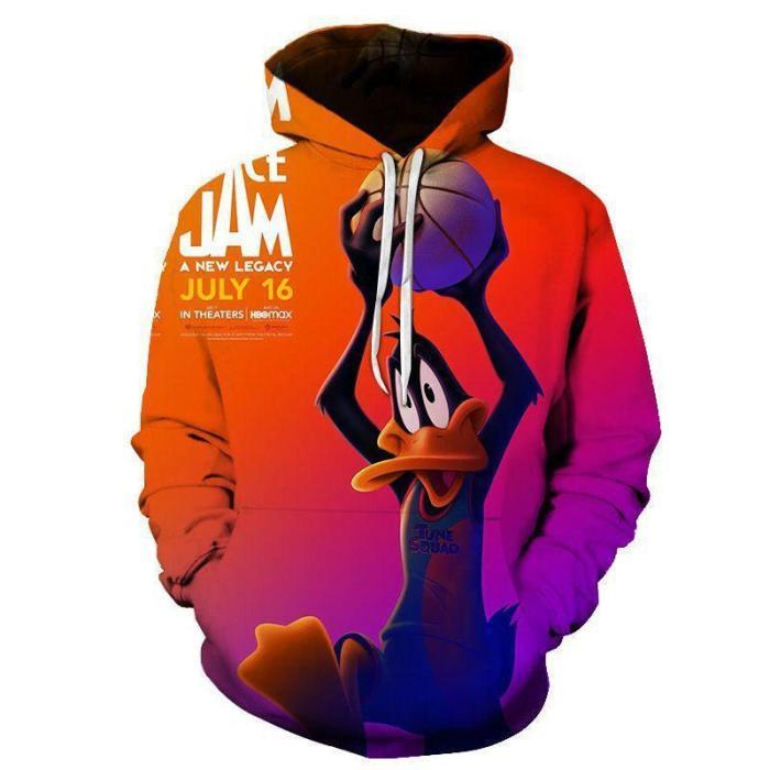 Space Jam 2 A  Legacy Movie Cosplay Hoodie 3D Pattern Sweatshirt Jacket Pullover