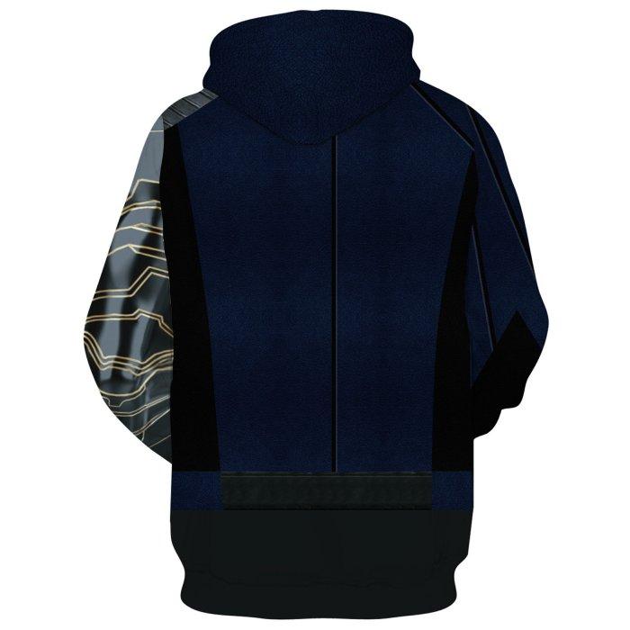Avengers Movie Winter Soldier White Wolf Blue Cosplay Unisex 3D Printed Hoodie Sweatshirt Pullover