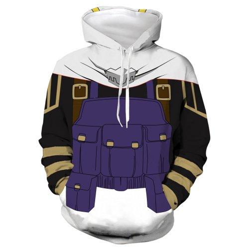 My Hero Academia Anime Blue Hawaks Winged Hero Cosplay Unisex 3D Printed Mha Hoodie Sweatshirt Pullover