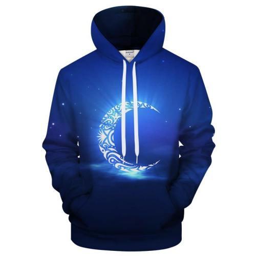 Ramadan Blue Moon 3D Sweatshirt Hoodie Pullover