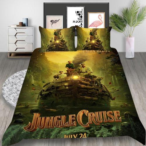 Jungle Cruise Cosplay Bedding Set Duvet Cover Pillowcases Halloween Home Decor
