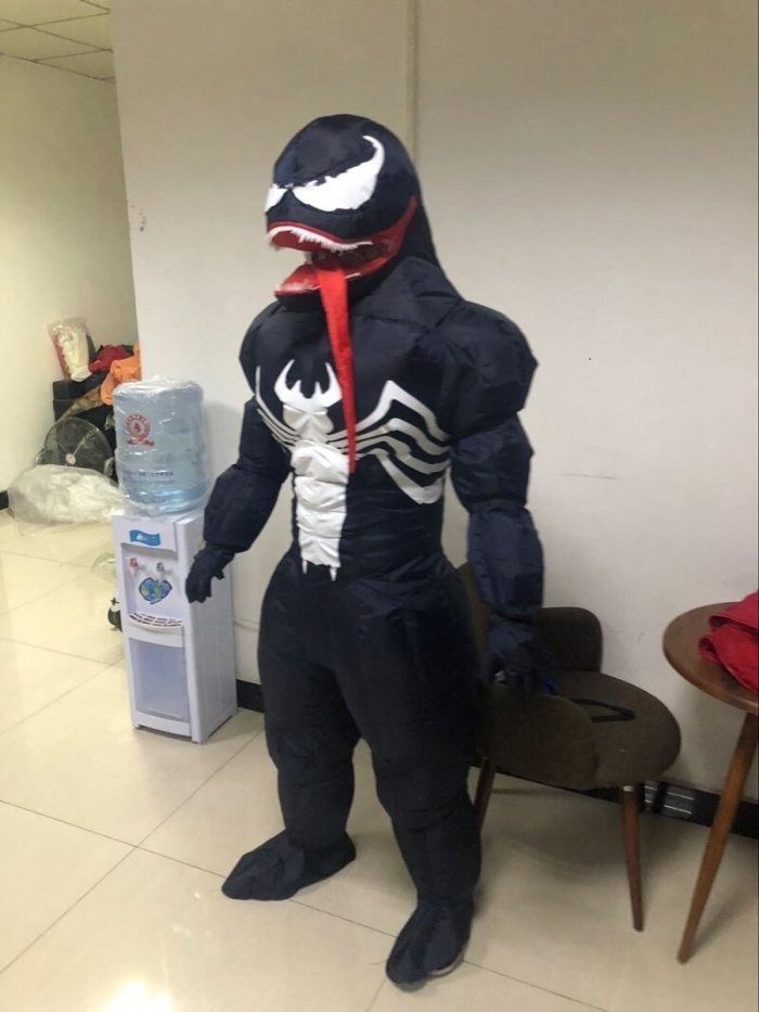 Halloween  Muscle Venom Inflatable Cosplay Costume Funny Dress