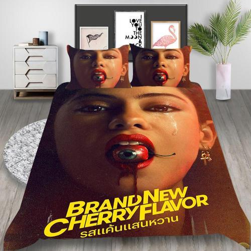 Brand  Cherry Flavor Cosplay Bedding Set Duvet Cover Pillowcases Halloween Home Decor