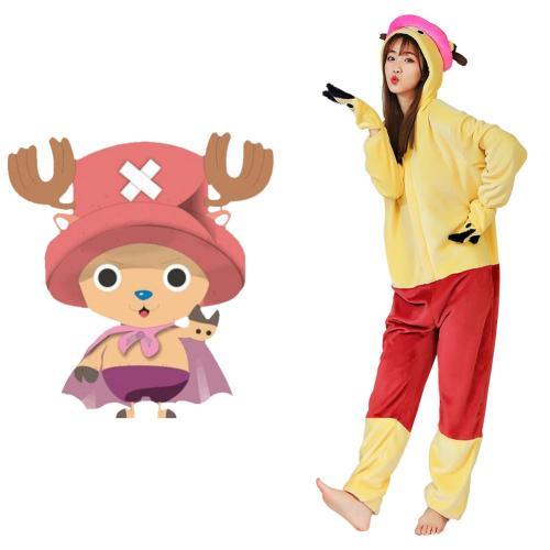 Anime One Piece ·Chopper Pajama Adult Unisex Onesies Polyester Sleepwear Pyjamas Halloween Carnival Costume Cosplay Costume