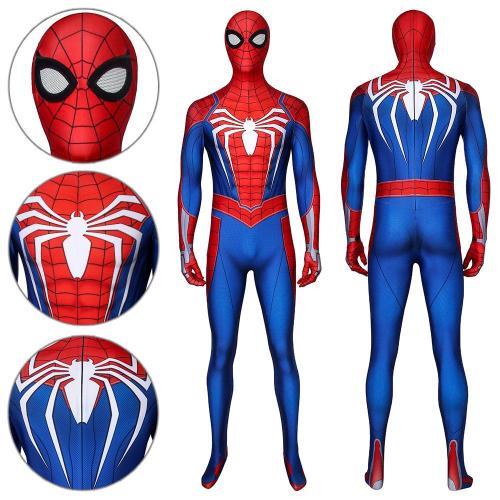 Spider-Man Peter Parker Advanced Suit Ps4 Spider-Man Spiderman Jumpsuit Cosplay Costume -