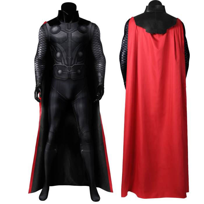 Infinity War God Of Thunder Thor Jumpsuit Bodysuit Cosplay Costume