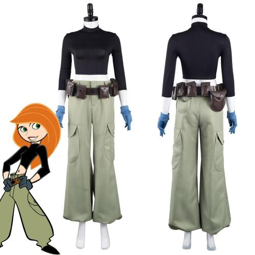 Anime Kim Possible Kim Possible Outfits Halloween Carnival Suit Cosplay Costume