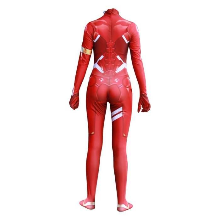 Darling In The Franxx 02 Zero Two Bodysuit Jumpsuit Cosplay Costume