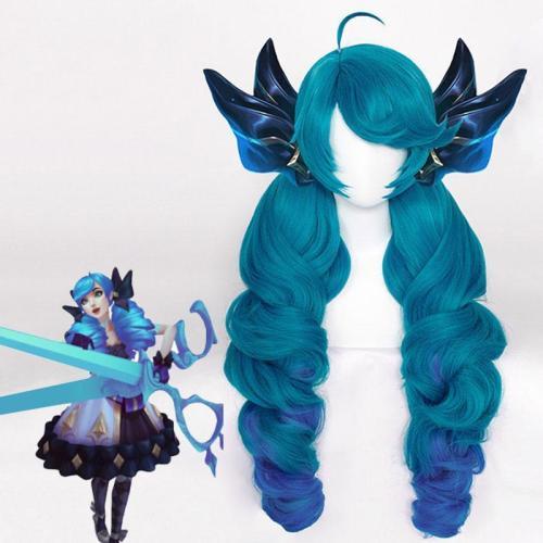 League Of Legends Lol Gwen Blue Cosplay Wig