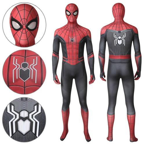 Spider-Man Peter Parker Upgraded Suit Spider-Man: Far From Home Jumpsuit Cosplay Costume -