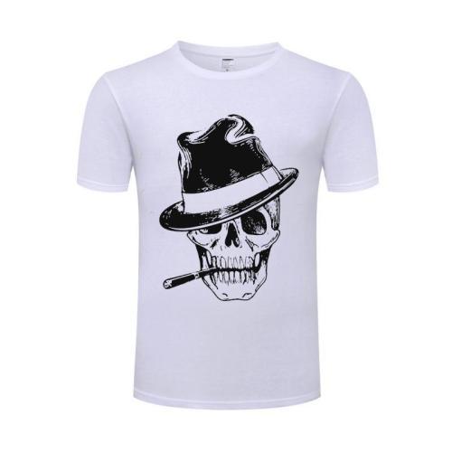 Men'S Cotton O-Neck Tops Summer Male Tesla T-Shirt