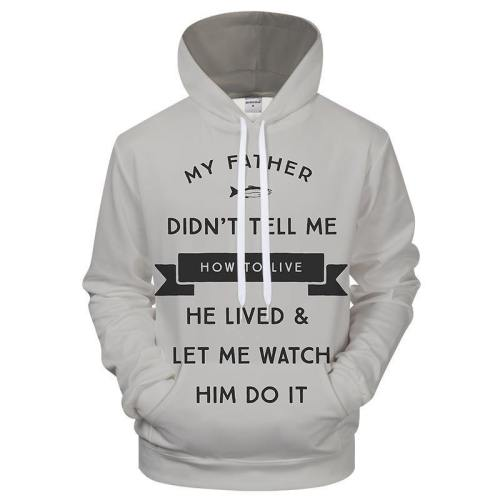 A Teaching Father 3D Sweatshirt Hoodie Pullover