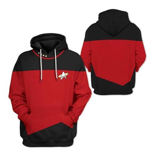 Star Trek Picard Style Movie Unisex 3D Printed Hoodie Pullover Sweatshirt
