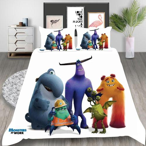 Monsters At Work Cosplay Bedding Set Duvet Cover Pillowcases Halloween Home Decor