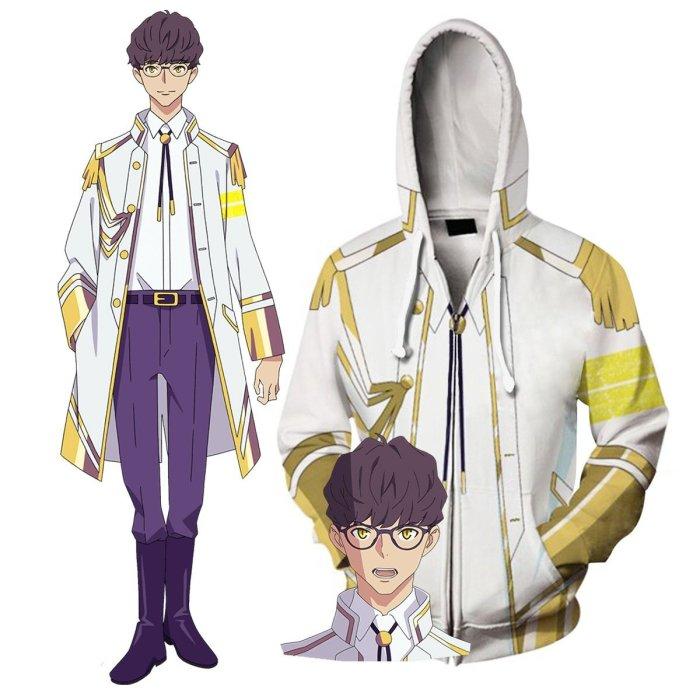 Ssss.Dynazenon Anime Juuga Cosplay Unisex 3D Printed Hoodie Sweatshirt Jacket With Zipper