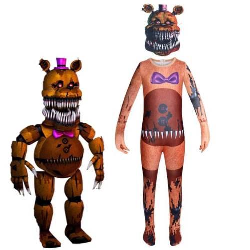 Kids Phantom Freddy Cosplay Costume Horror Bodysuit Halloween Clothing
