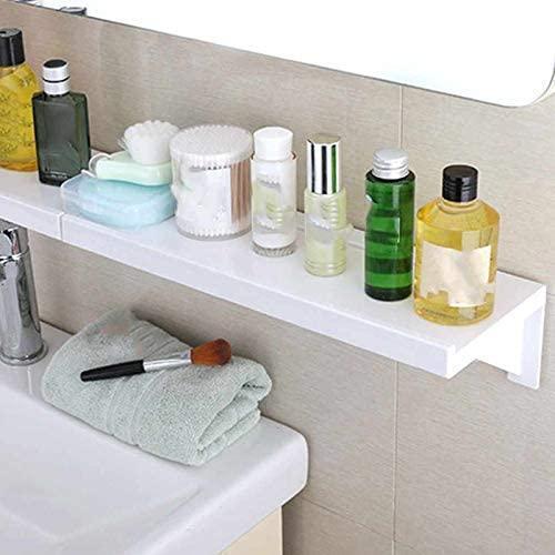 Bathroom Shelf Wall Mounted Punch Free Storage Rack (2Pcs)