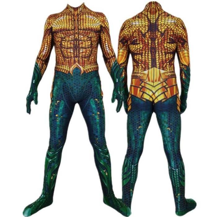 Aquaman Arthur Curry Cosplay Costume Zentai Bodysuit Jumpsuit Suit